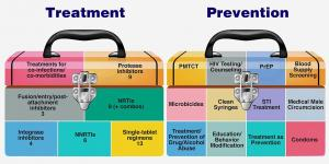 Illustration of treatment and prevention strategies as toolboxes